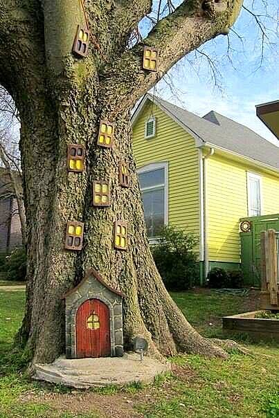 Декоративные деревья для дачи своими руками