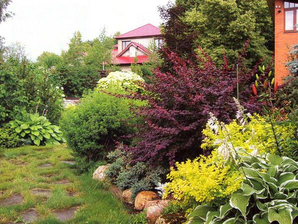 Если сад большой – наоборот разбейте клумбы